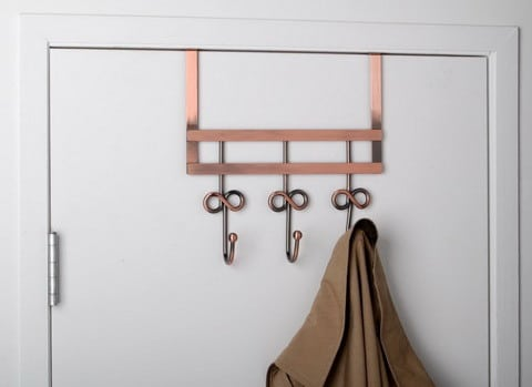 OVER THE DOOR HOOK - ANTIQUE COPPER FINISH WITH 3 HOOKS
