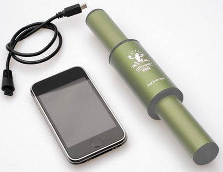 PEG (Personal Energy Generator) Recharge your hand-held electronic devices with the kinetic energy