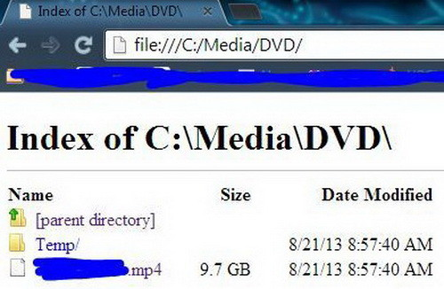 Start by typing in the c drive in your Chrome browser and navigate the directory