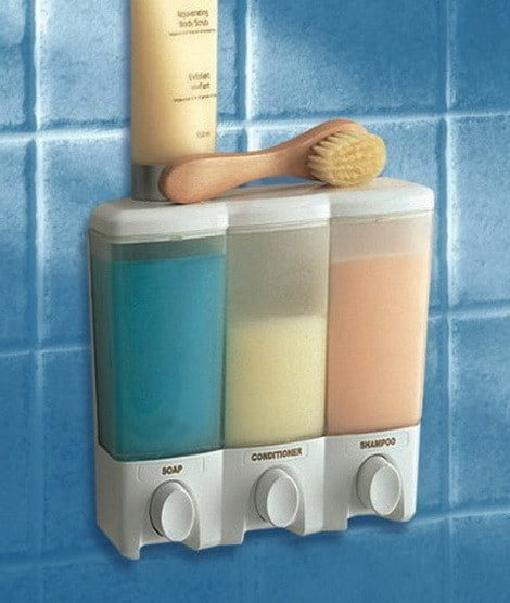 Three Chamber Shower Shampoo Dispenser