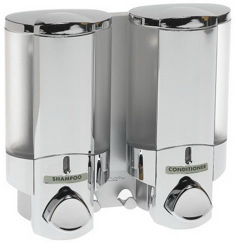 Two Chamber Bath Soap Shampoo Dispenser
