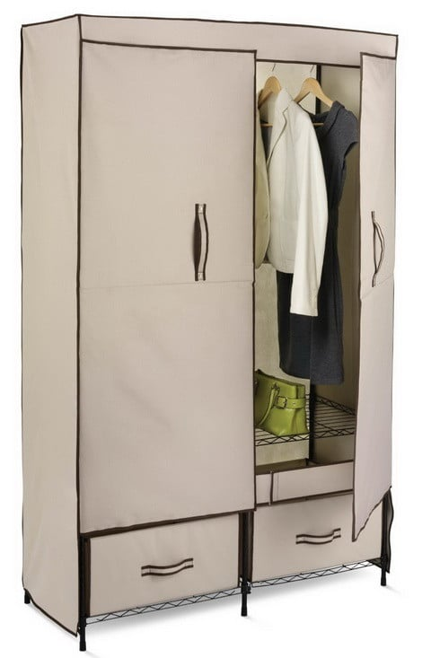Wide Storage Closet with Heavy Duty Doors