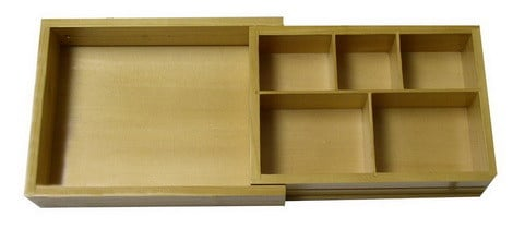 Wood Expandable Cosmetic Drawer Organizer