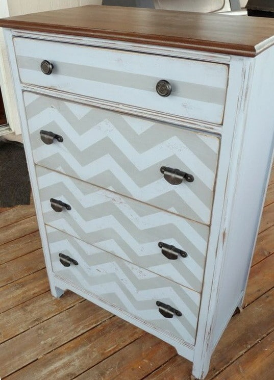 chevron design on furniture