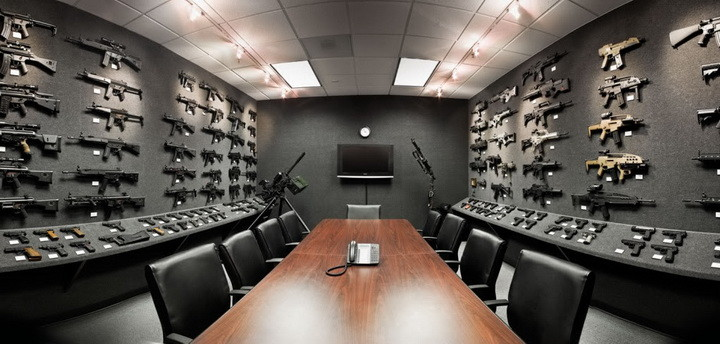 guns in a conference room