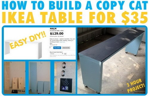 ikea table build yourself