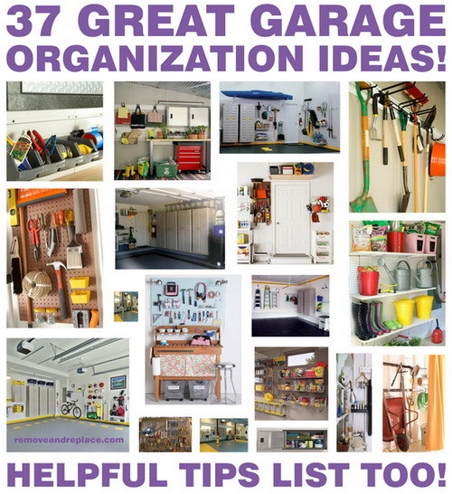 37 Ideas For A Clutter Free Organized Garage - Storage ...