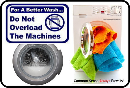 overloaded washing machine
