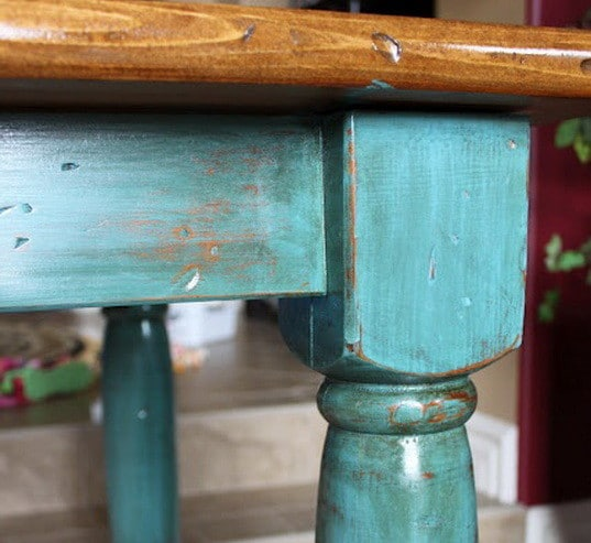painted table legs