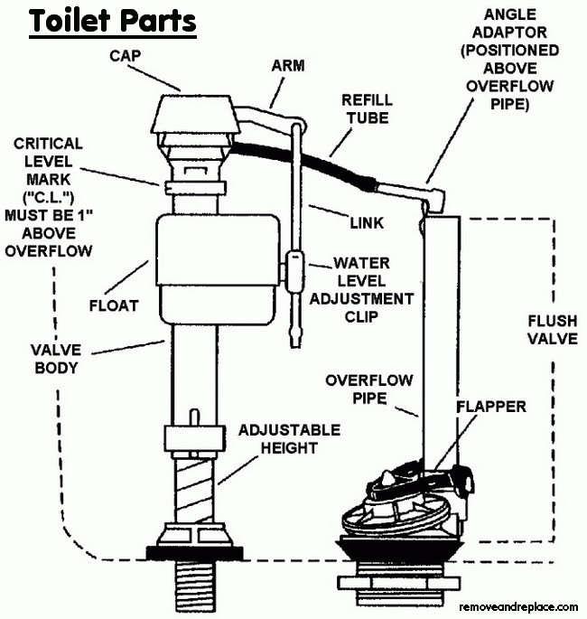 toilet parts schematic how to fix a toilet that is constantly running diy toilet repair Sloan Toilet Flush Valve Diagram at gsmx.co