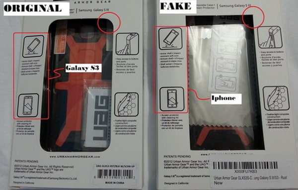 urban armor gear - how to spot a fake