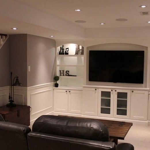 Salon on pinterest family rooms home entertainment Home entertainment center