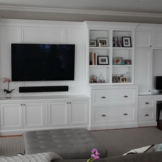 Built In Entertainment Center Design Ideas custom built entertainment center diy kitchen cabinets living room ideas painted furniture Home Entertainment Center Ideas_18