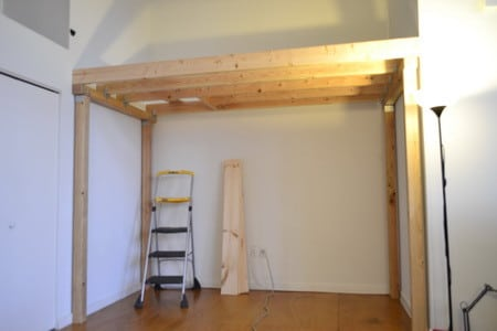 How to build a loft diy step by step with pictures for How to build a garage loft
