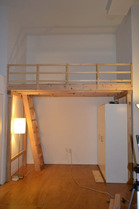 How to build mezzanine in garage joy studio design for Diy garage storage loft
