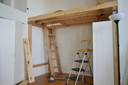 Superieur How To Build A Loft_16 We Then Installed A Clothing Wardrobe Free Standing  ...