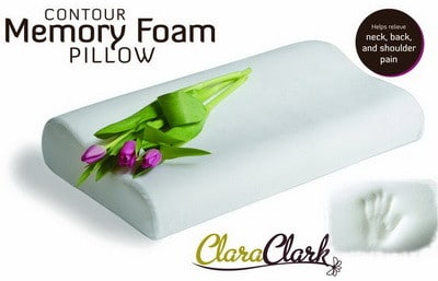 Hypoallergenic Contour Memory Foam Pillow Helps Relieve Neck Back And Shoulder Pain