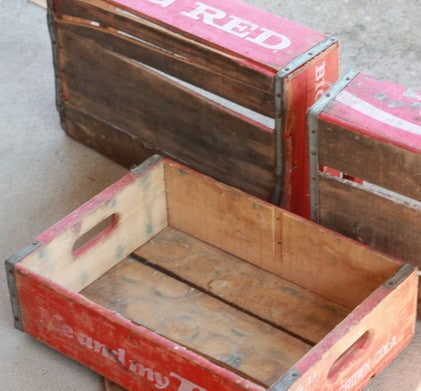How to make a unique bookshelf using old wooden vintage for Craft crates