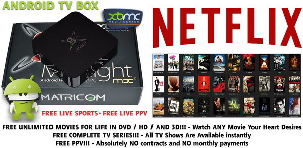 Android Smart TV Box - SHOWBOX XBMC Addons Preloaded - Streaming Internet Media Players
