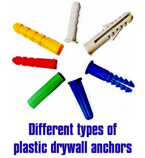 different types of plastic wall anchors for drywall