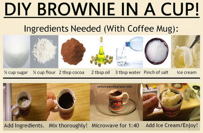 how to make a brownie in a cup