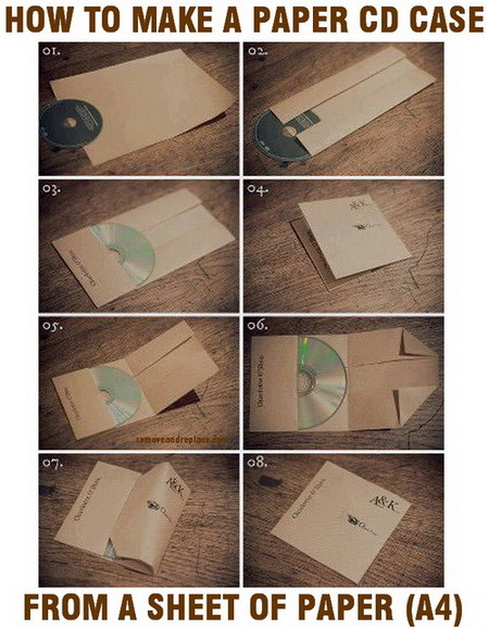 how to make a cd case from a sheet of paper