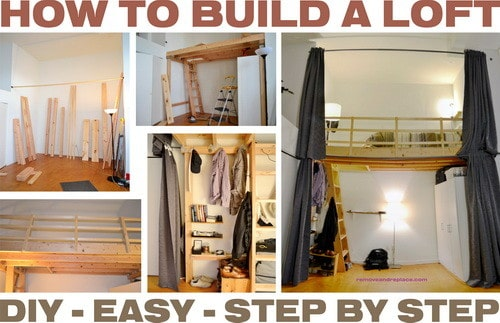How to build a loft diy step by step with pictures for Diy garage storage loft