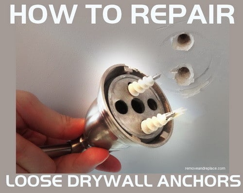 loosen drywall anchors can be fixed