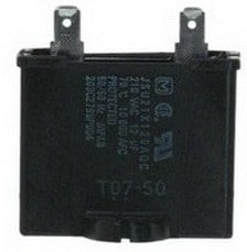 newer style capacitor for refrigerator