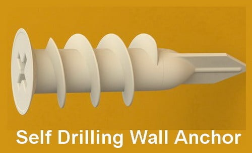 self drilling plastic drywall anchor