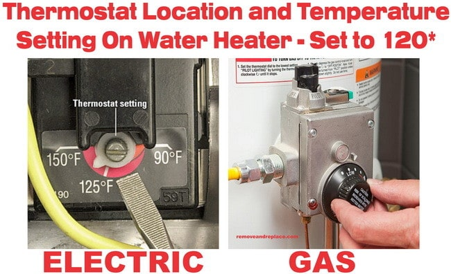 water heater temp setting