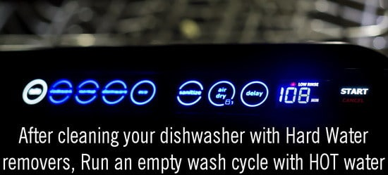 hot water dishwasher