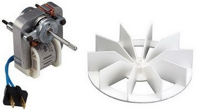 bathroom vent replacement motor and impeller
