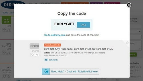 online promo codes for shopping - earlygift