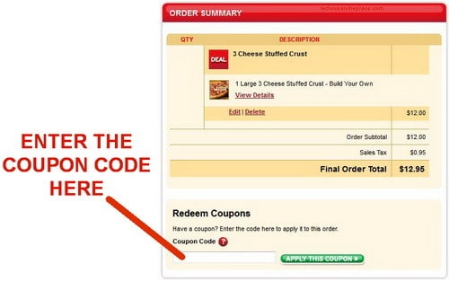 Pizza hut discount coupon code
