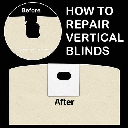 How to mend vertical blinds