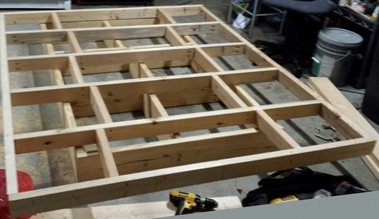 how to build a floating bed frame 2