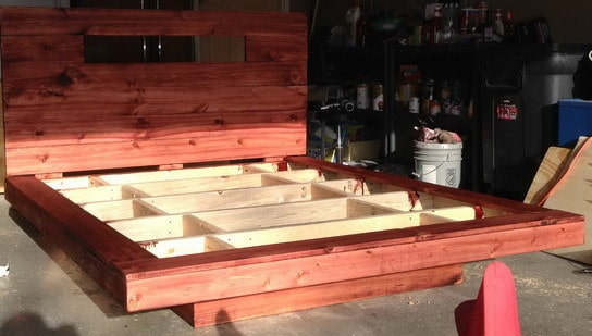 How To Build A DIY Floating Bed Frame With LED Lighting ...