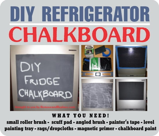 diy fridge chalkboard