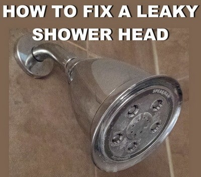 how to fix a leaky shower head fast and easy. Black Bedroom Furniture Sets. Home Design Ideas