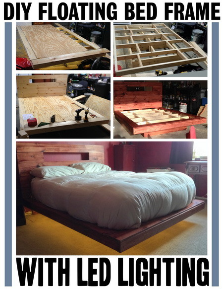 diy floating bed woodwork how to build a size bed frame out of wood 11845