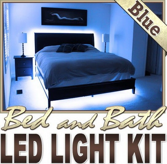led bed bedroom light kit