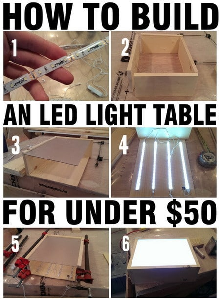 Diy Led Light Table Led Light Table With Wood