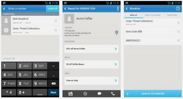 mr number call blocker android app