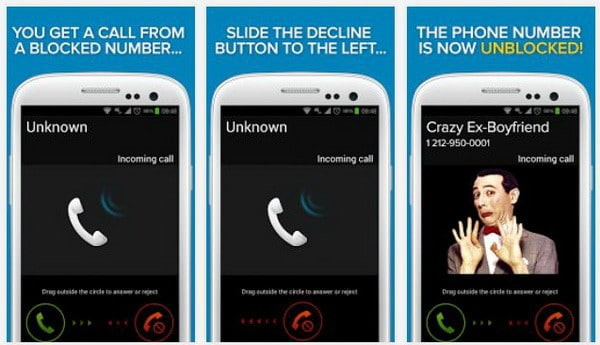 trapcall android app to unblock a caller