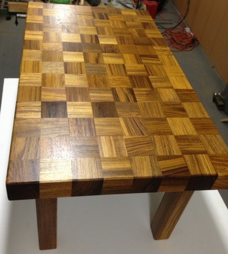 Coffee Table Made From Recycled Teak Wood_11