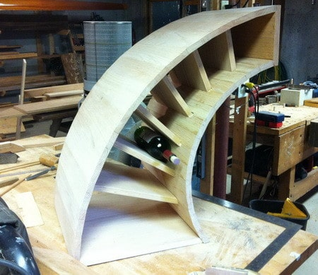 Custom Curved Wooden Wine Rack_4