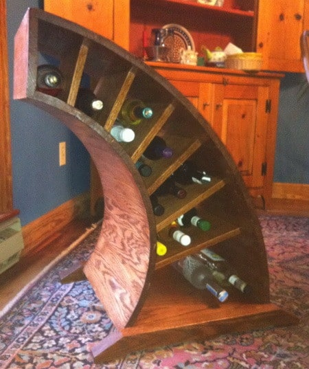 Custom Curved Wooden Wine Rack_8