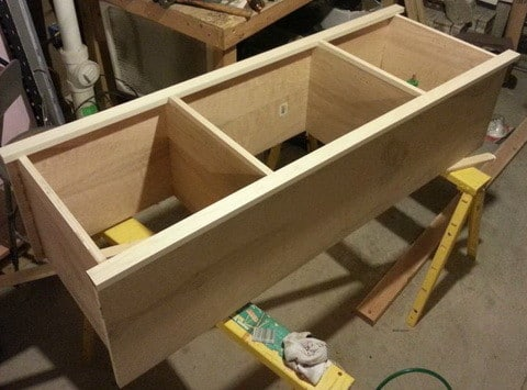 How to build a simple diy tv stand using wood for Diy shelves philippines