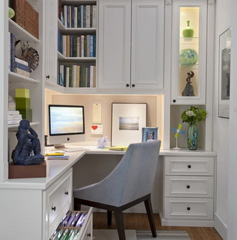 26 home office design and layout ideas for Small home office layout ideas